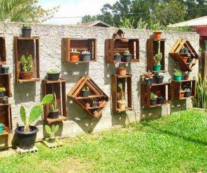 pared con jardin vertical