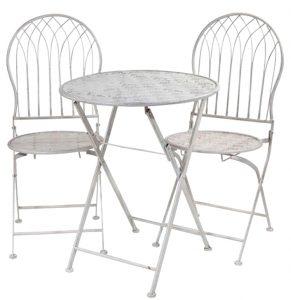 sillas terraza chapa blancas