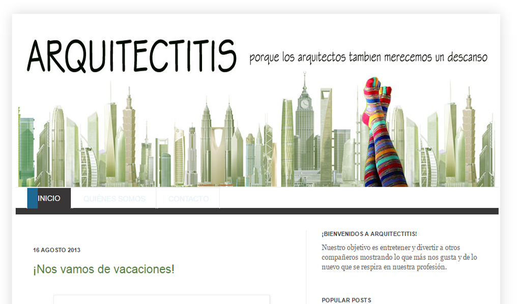 ARQUITECTITIS blog la josa shop