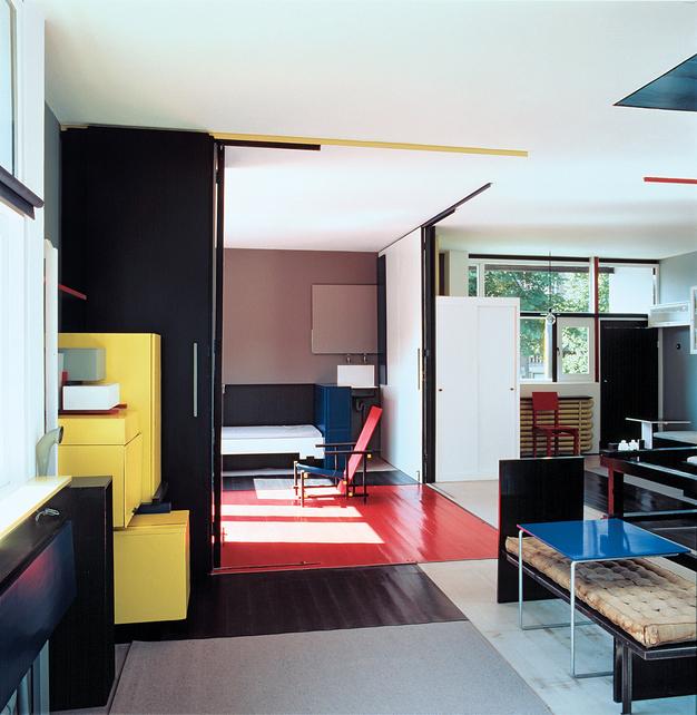 Interior casa Rietveld Schröder en Utrecht Gerrit Rietveld.