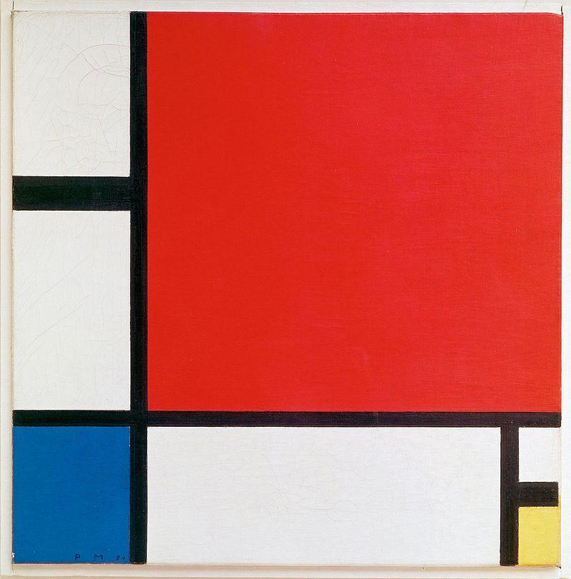 composicion II en rojo , azul y amarillo