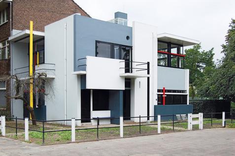 Exterior Casa Schröder en Utrecht de Gerrit Rietveld.
