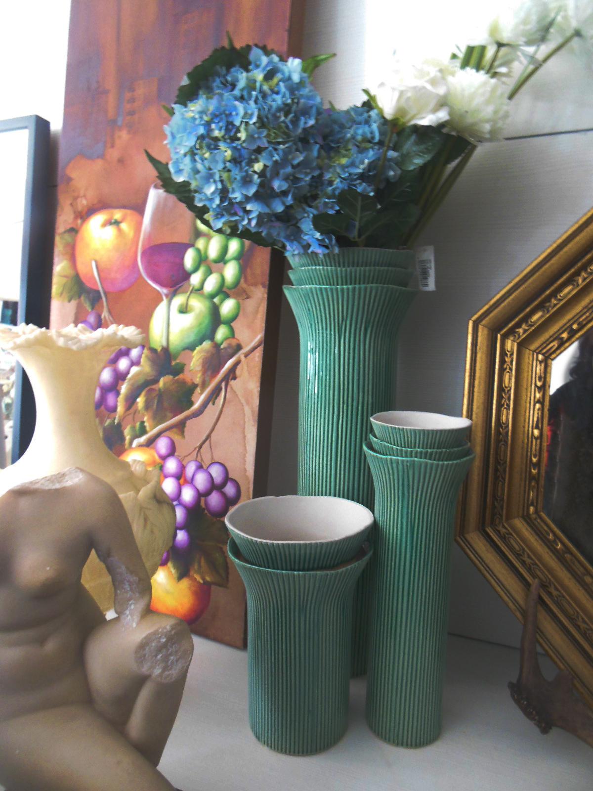 jarrones verde agua en la josa shop