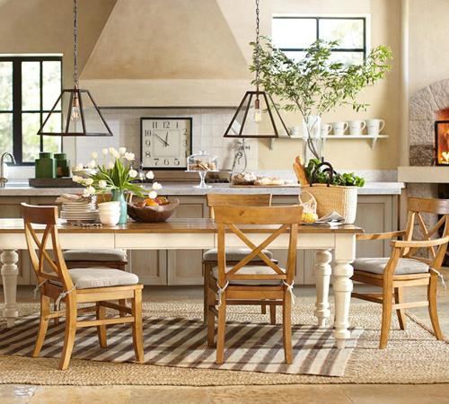 mesa cocina con patas blancas