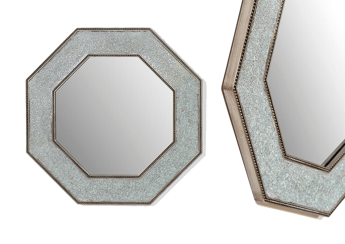 espejo geometrico plata