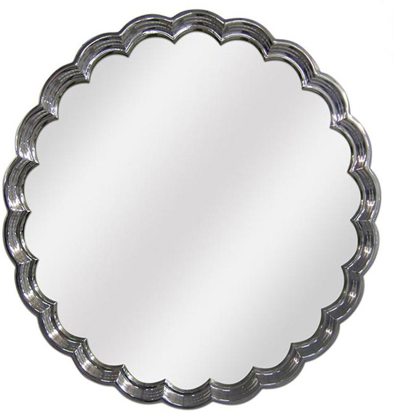 espejo plata redondo