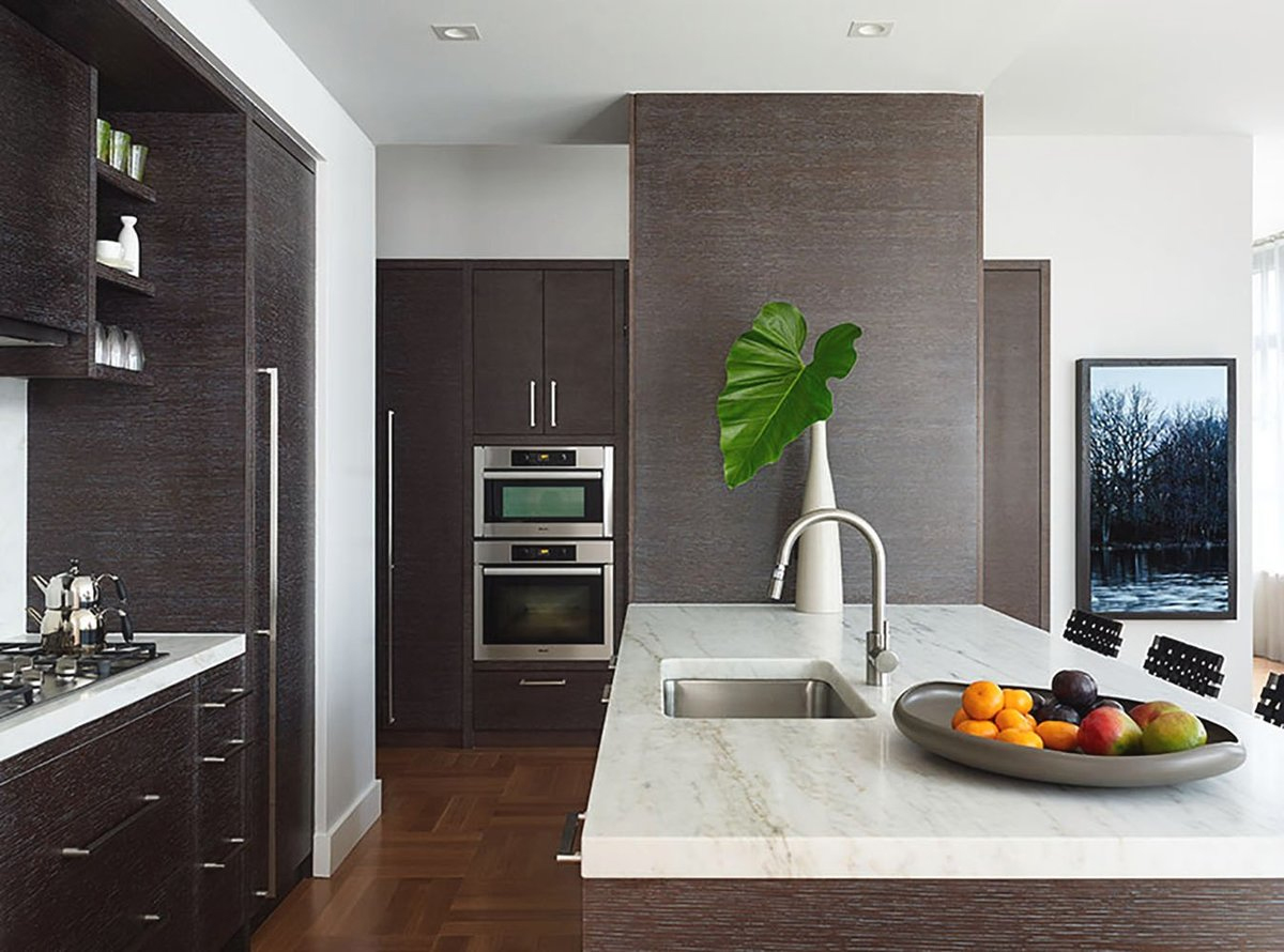 sobria y elegante cocina apartemento Chelsea NYC