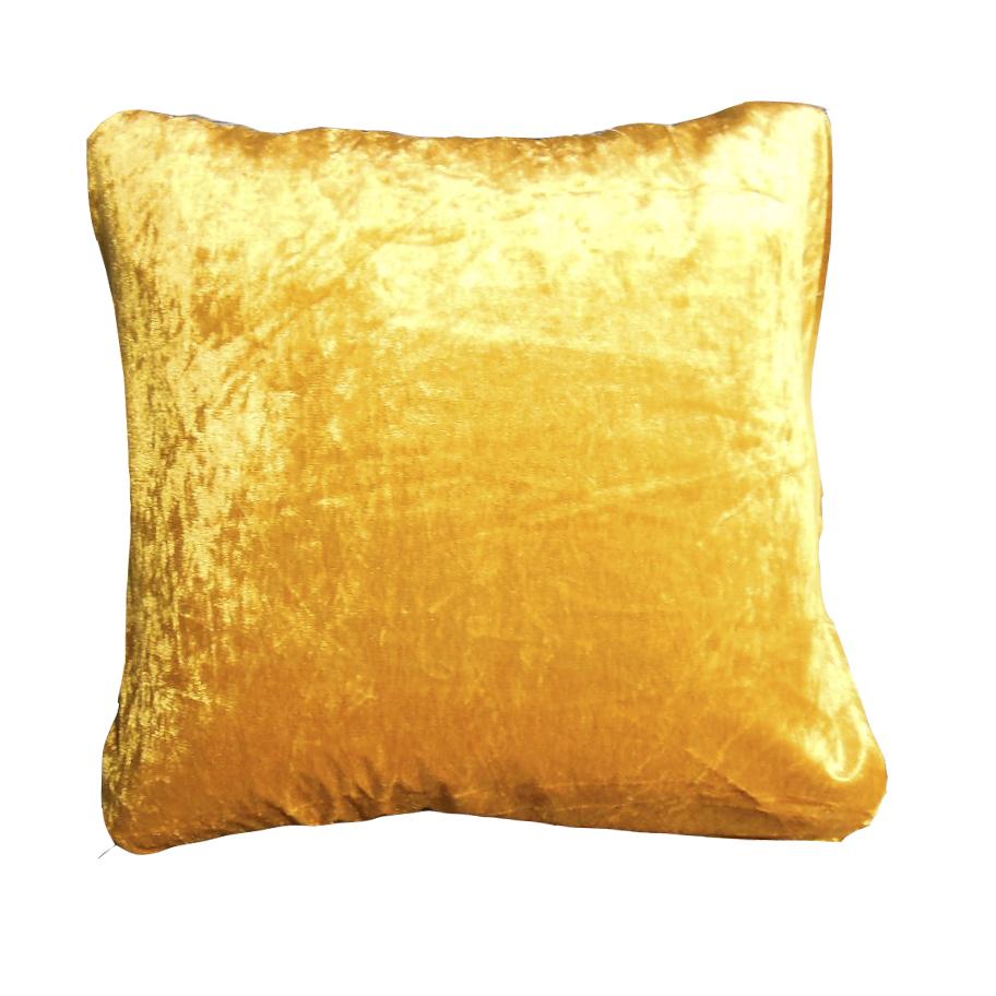Cojin amarillo de color oro dorado