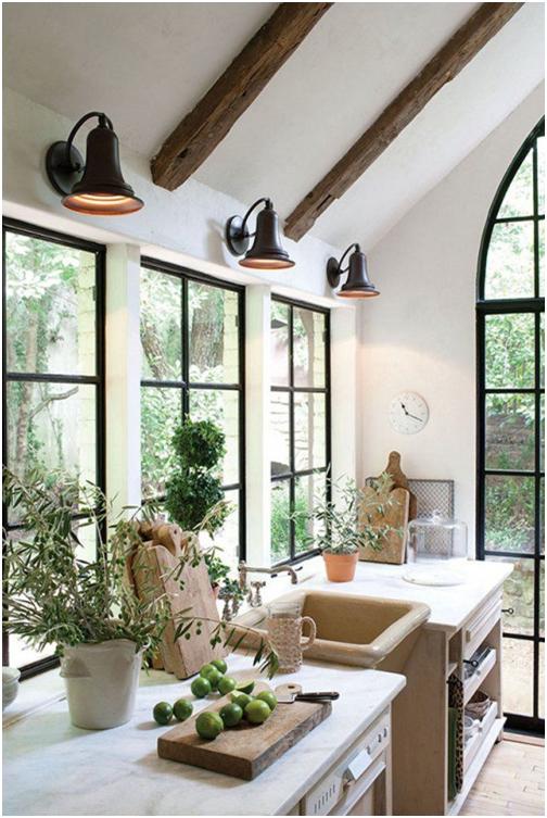 techo con madera