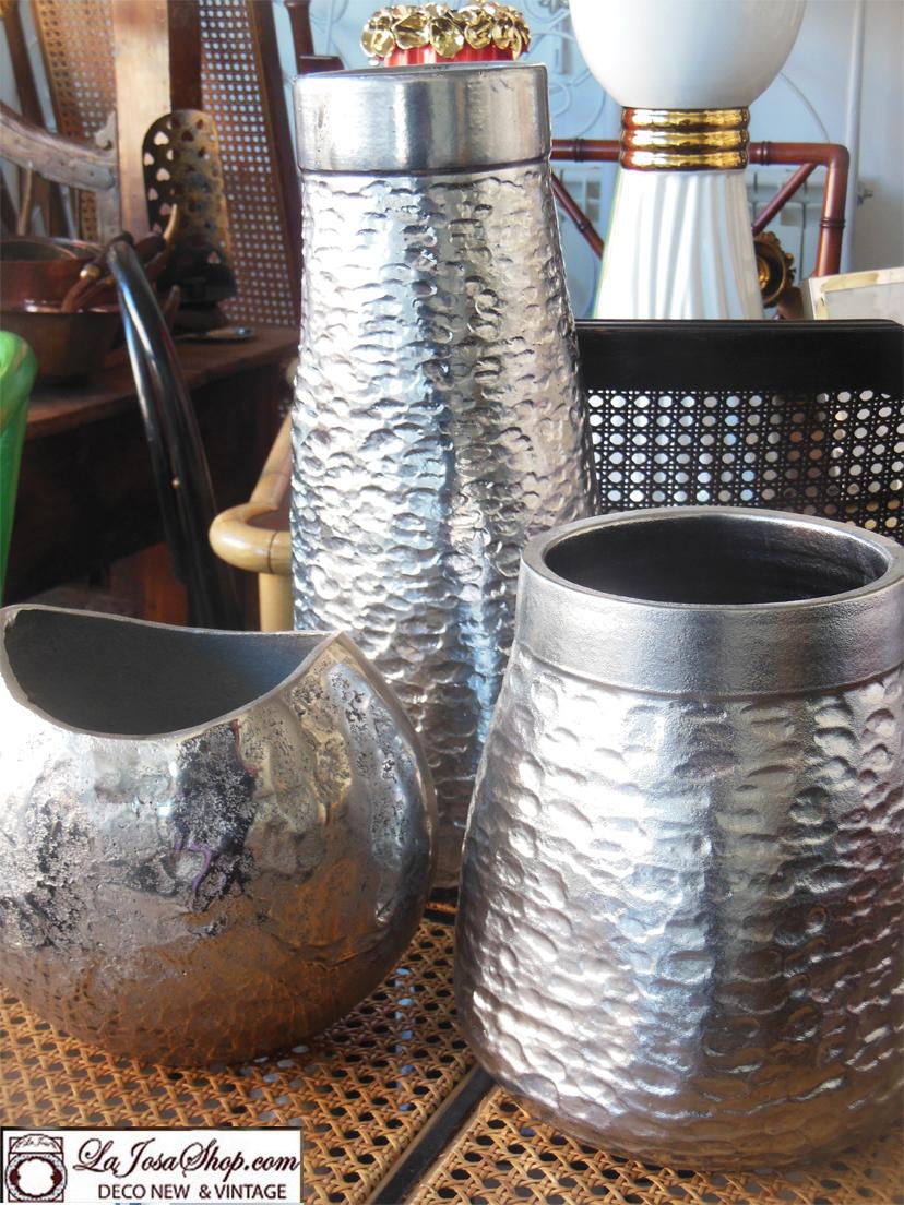 Decorar en color plata la josa Shop.Espejos jarrones y demas objetos en color platao aluminio para decoarar tu hogar .